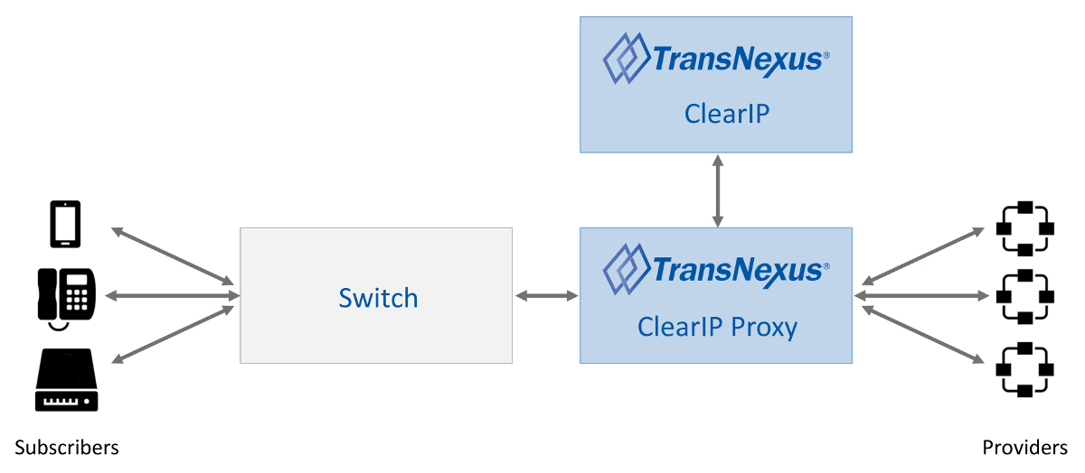 ClearIP Proxy within a telecommunications network