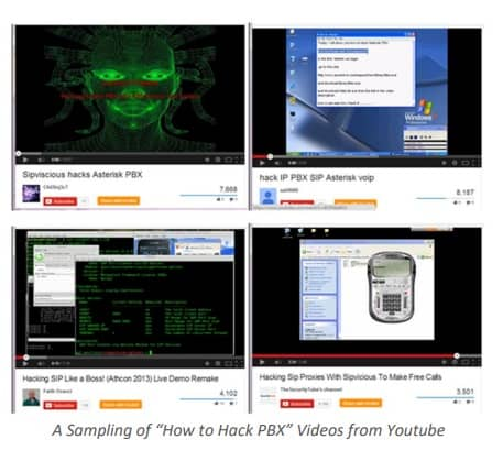 "A Sampling of ""How to Hack PBX"" Videos from Youtube"